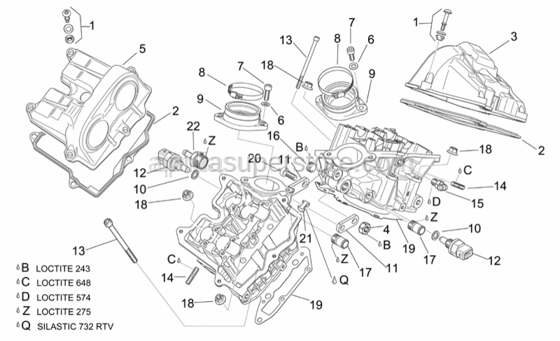 Aprilia - Spacer screw cpl.