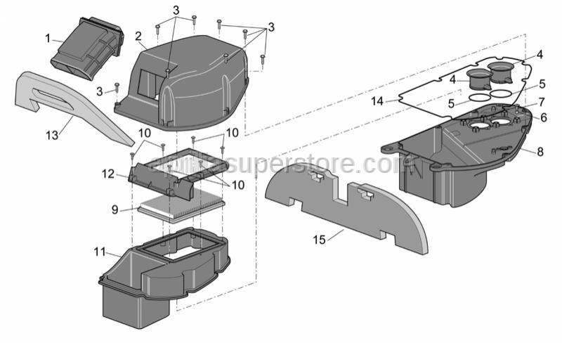 Aprilia - Upper side filter case