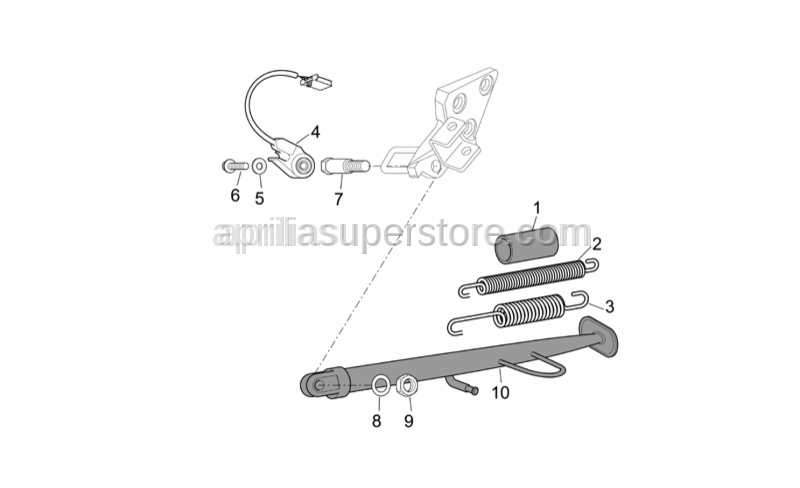 Aprilia - Screw w/ flange M6x20