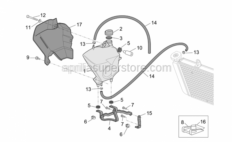Aprilia - Expansion tank support