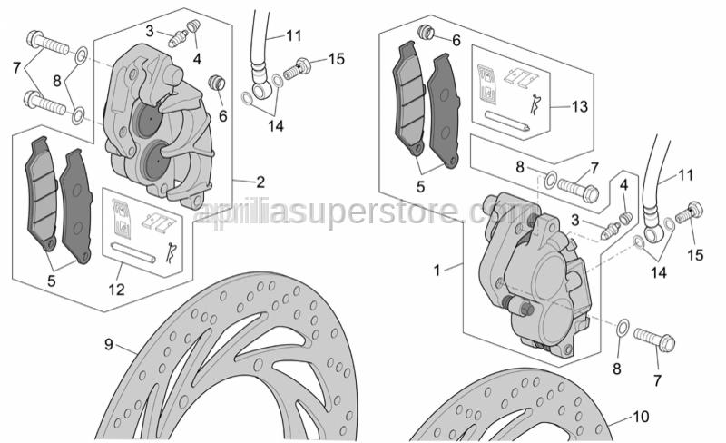 Aprilia - RH Pin+Brake spring