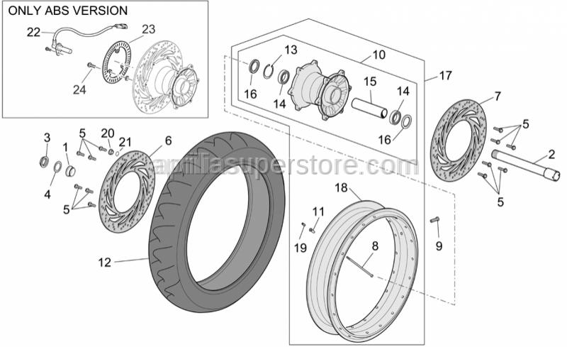 Aprilia - Front wheel(complete)