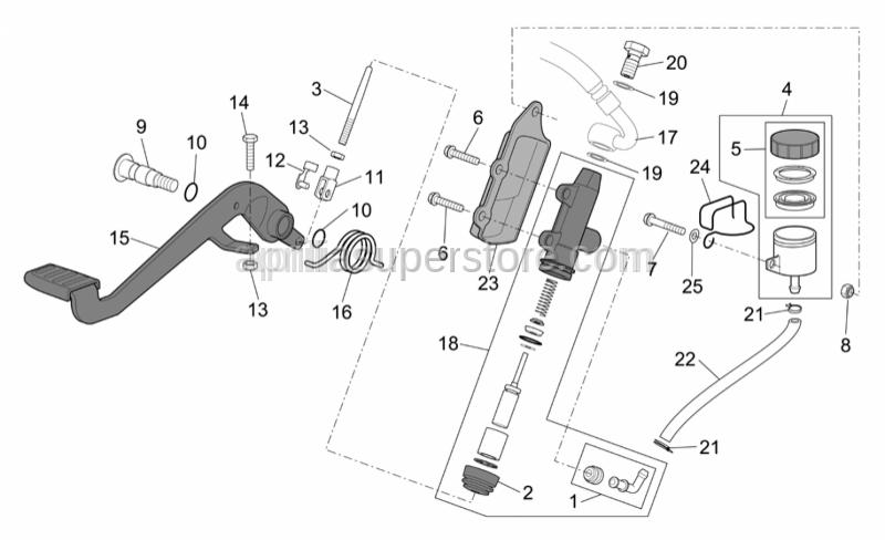 Aprilia - Hex screw M6x25