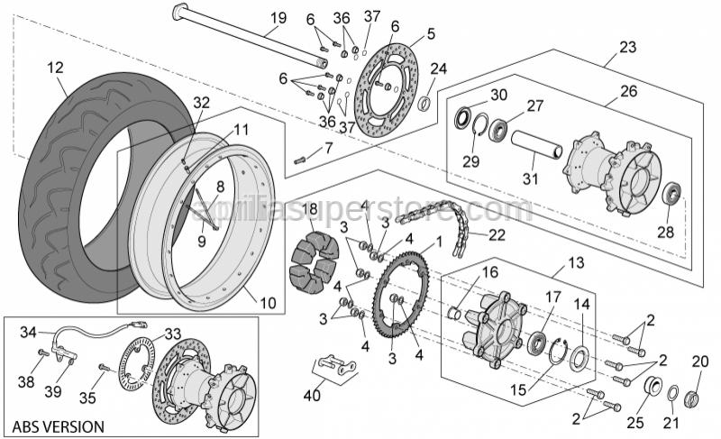 Aprilia - Wheel D17