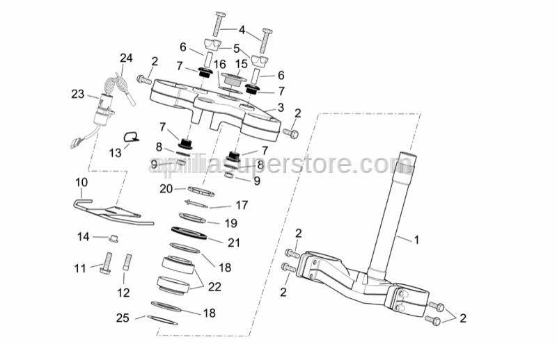Aprilia - Shear rivet M8x20