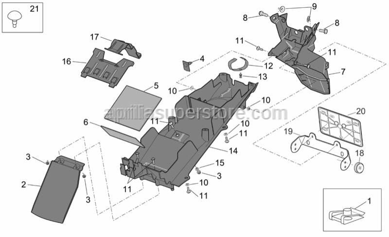 Aprilia - Rear reflector support
