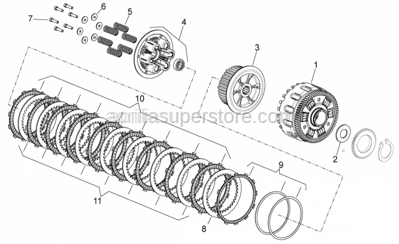 Aprilia - Nitrurated driven clutch disc