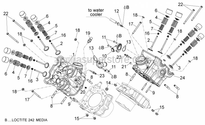 Aprilia - Ext. valve spring