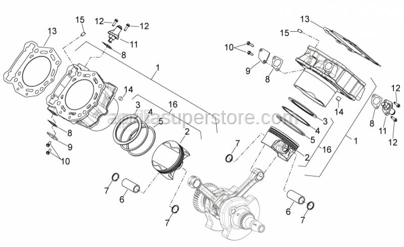 Aprilia - Piston catD 91,954-91,961