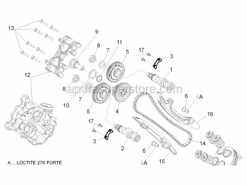 Aprilia - Front exhaust camshaft