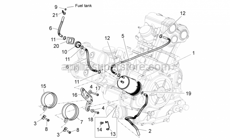 Aprilia - Hex socket screw M8x12