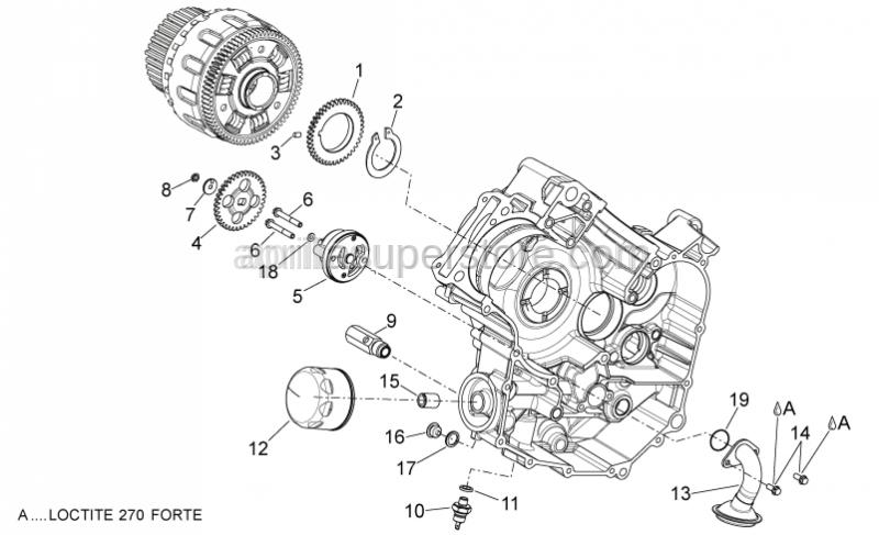 Aprilia - Oil pump gear