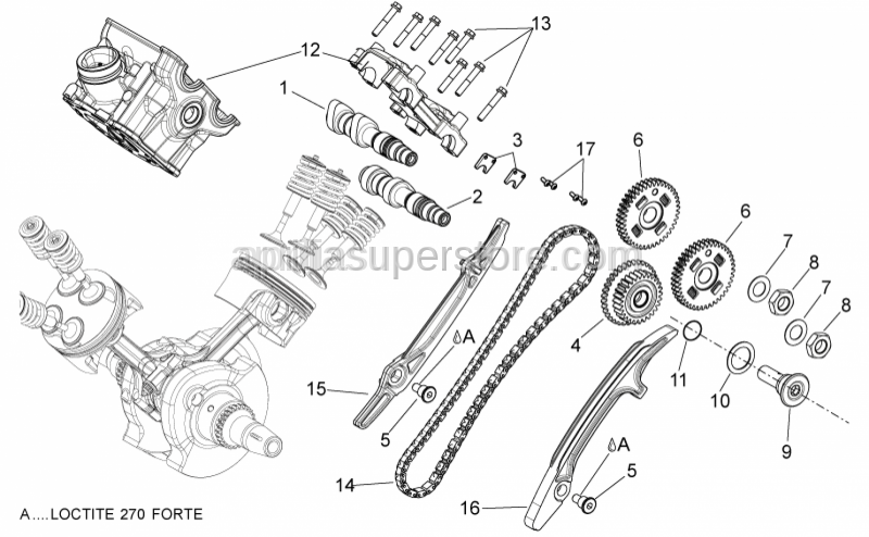 Aprilia - Rear exhaust camshaft