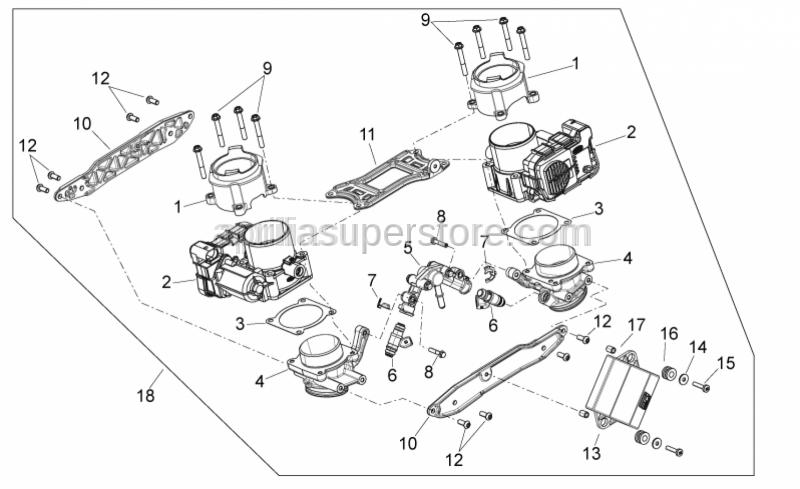 Aprilia - Injector kit complete