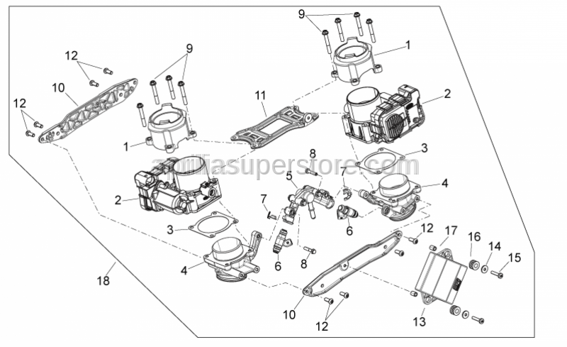 Aprilia - Screw w/ flange M6x30