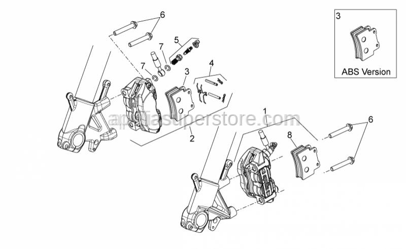 Aprilia - Front brake spring