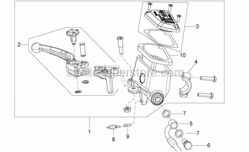 Aprilia - Front master cilinder D15,87