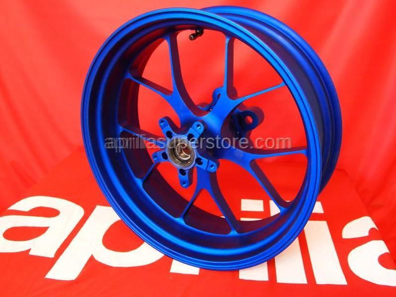 Aprilia - Rear wheel, blue OZ-Alu