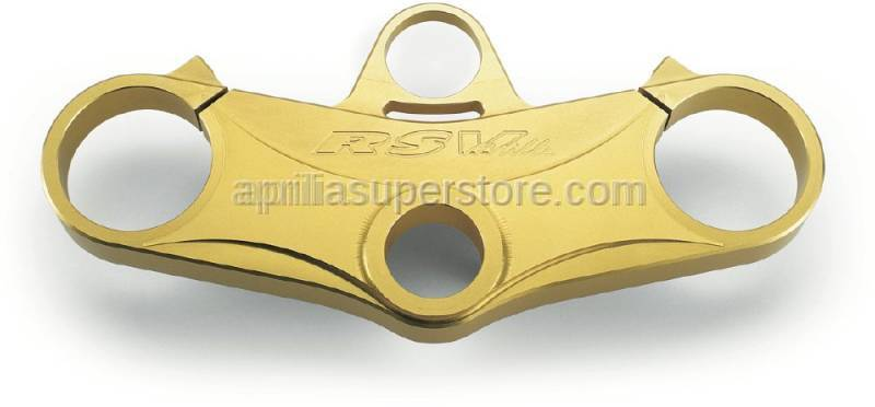 Aprilia - Steering plate,gold Ohlins-Alu