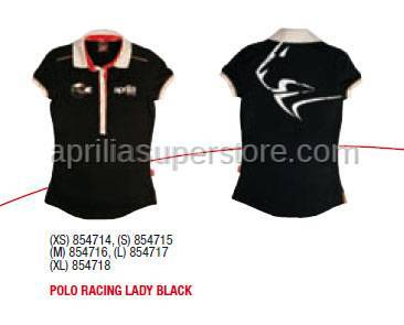 Aprilia - POLO RACING LADY BLACK - XS