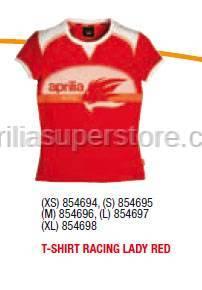 Aprilia - T-SHIRT RACING LADY RED - XS -S