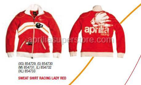 Aprilia - SWEAT SHIRT RACING LADY RED - S