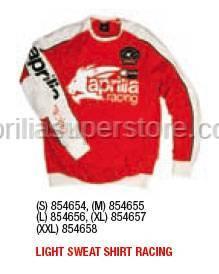 Aprilia - LIGHT Sweater RACING (RED) - S -XL