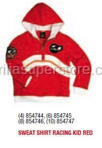 Aprilia - Sweater RACING KID (RED) - 4 -6