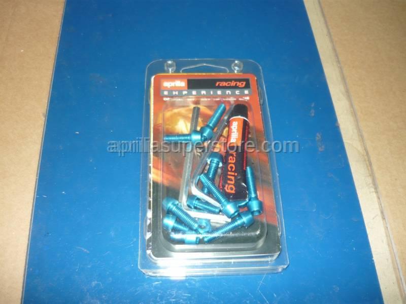Aprilia - Handlebar screws, blue Ergal
