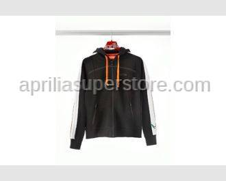 Aprilia - Collection 2012 Ladies  Full Zipper Hooded Sweatshirt Black Size -S -M -L