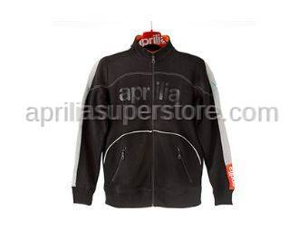 Aprilia - Collection 2012 Full Zipper Sweater Black Size -S -M -L -XL