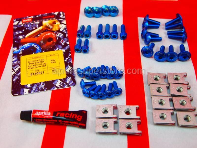Aprilia - Fairing screws, blue Ergal