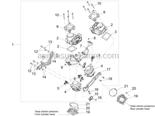 Aprilia - Sensor support Plate