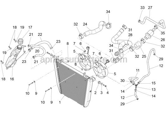 Aprilia - Radiator input pipe
