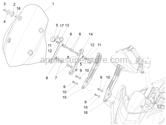 Aprilia - Grommet  for upper windscreen