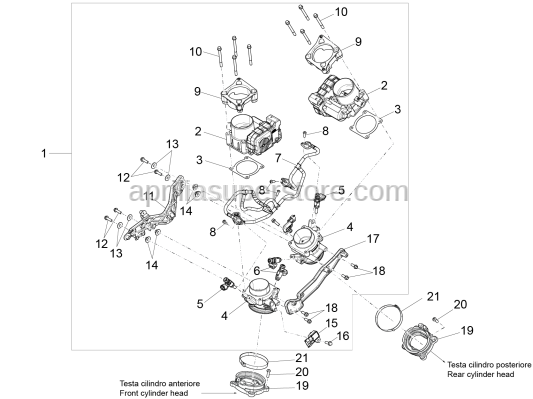 Aprilia - Screw w/ flange M6x65