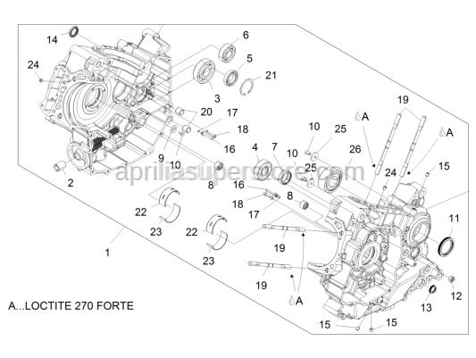 Aprilia - Ball bearing 20x47x14