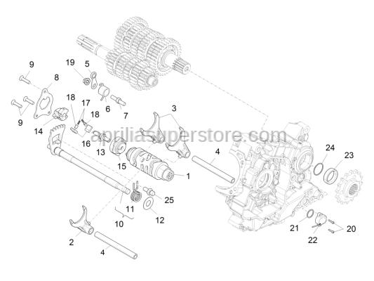 Aprilia - Selector lock plate