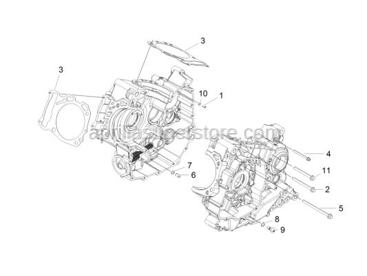Aprilia - Screw w/ flange M6x65