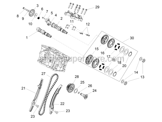 Aprilia - Axial retaining element