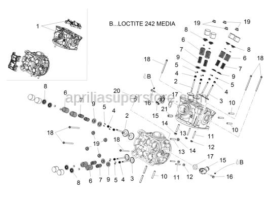Aprilia - Exaust valve