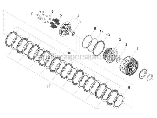 Aprilia - Pressure plate spring