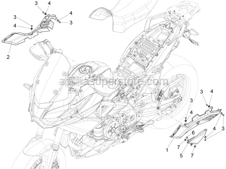 Aprilia - Rubber spacer