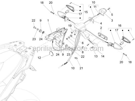 Aprilia - Washer 4,3X9X0,8