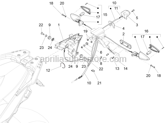 Aprilia - Nut M4