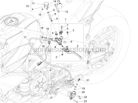 Aprilia - Hex socket screw M5x10