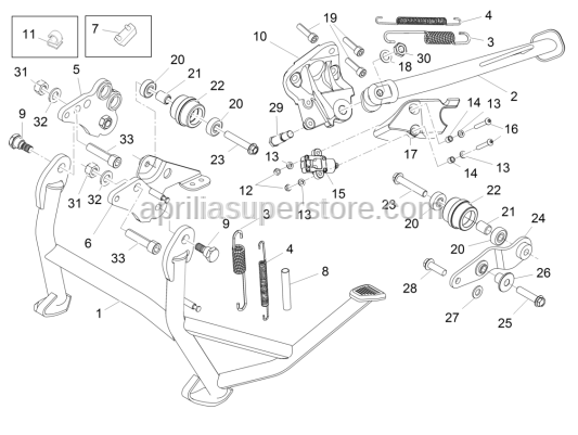 Aprilia - Screw w/ flange M8x25