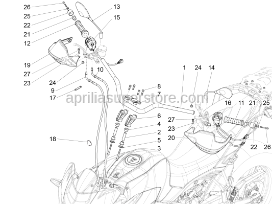 Aprilia - Screw w/ flange M10x75