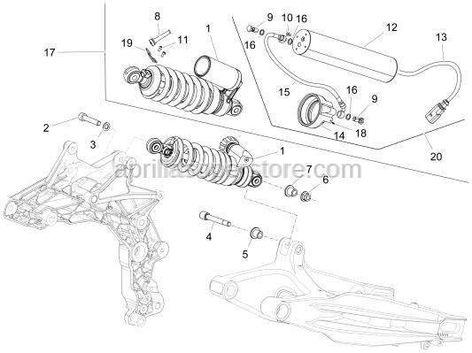 Aprilia - Hex socket screw M10x59