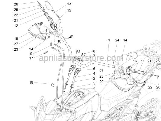 Aprilia - Screw M8x25 INOX